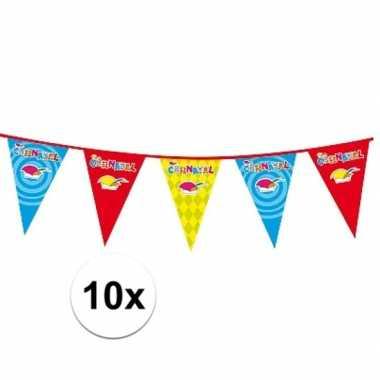 10x 10 meter lange carnaval vlaggenlijn