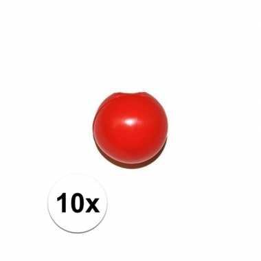 10x rode clownsneus/neuzen zonder elastiek