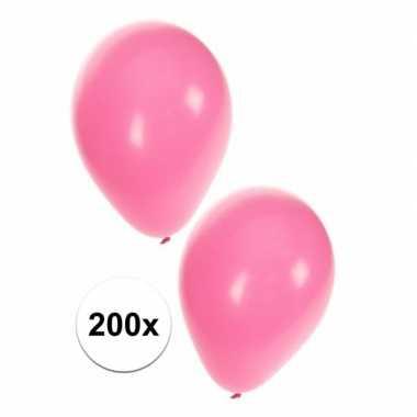 200 lichtroze dekoratie ballonnen