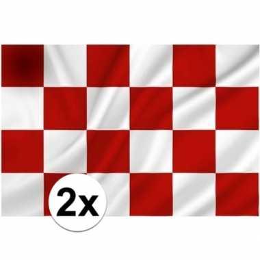 2x provincie noord brabant vlaggen 1 x 1.5 meter