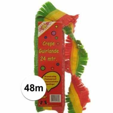 2x slingers in het rood/geel/groen