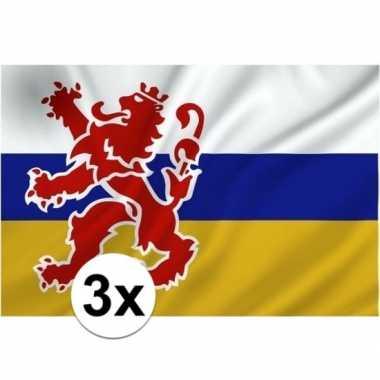 3x provincie limburg vlaggen 1 x 1.5 meter