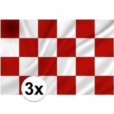 3x provincie noord brabant vlaggen 1 x 1,5 meter