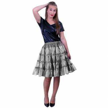 5 laagse zilveren petticoats