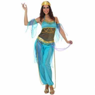 Arabische danseres carnavalskleding blauw