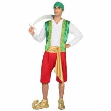 Arabische strijder amir verkleed carnavalskleding voor heren
