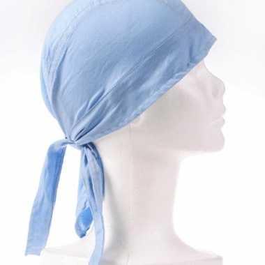 Bandana in de kleur lichtblauw