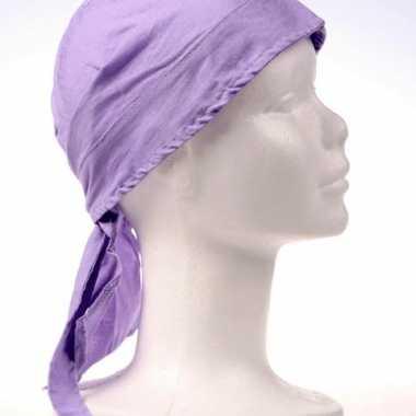 Bandana licht paars gekleurd