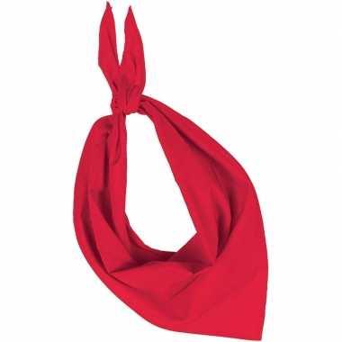 Bandana/zakdoek rood voor volwassenen