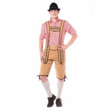 Beieren lederhose overknee licht bruin voor heren