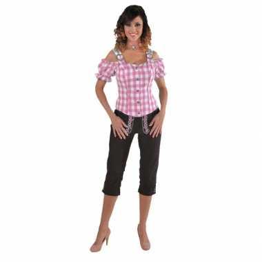 Beieren ruit blouse voor dames 10068599