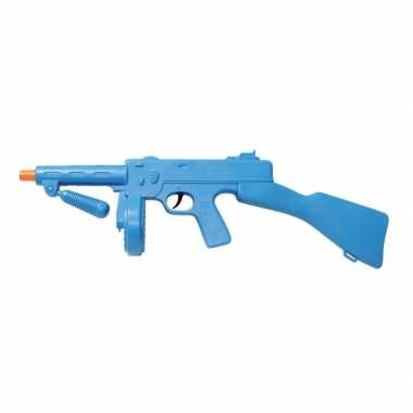 Blauw machinepistool plastic