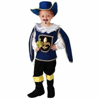 Blauw musketiers carnavalskleding voor jongens