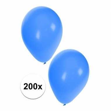 Blauwe carnaval ballonnen 200 st