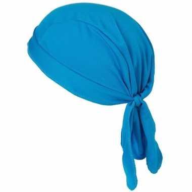 Blauwe sport bandana