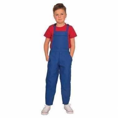 Blauwe tuinbroek/carnavalskledingl voor kinderen