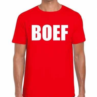 Boef heren t shirt rood