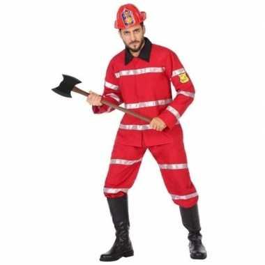 Brandweerman verkleed carnavalskleding voor heren