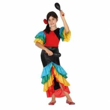 Braziliaanse samba/rumba danseres verkleed carnavalskledingvoor meisj