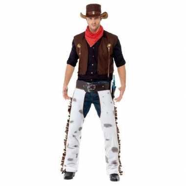 Bruin cowboy carnavalskleding voor heren