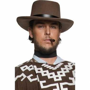 Bruine heren cowboyhoeden