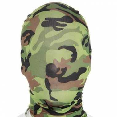 Camouflage carnavalskleding masker