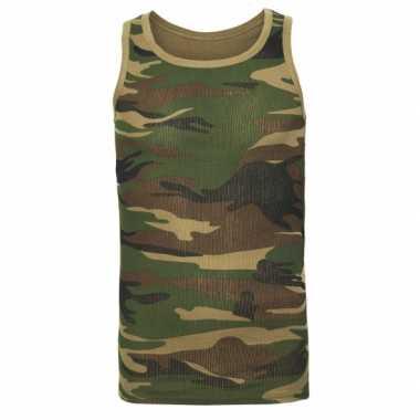 Camouflage tanktop voor heren