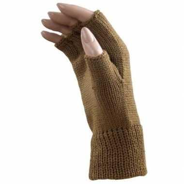 Carnaval camel polsjes/handschoenen vingerloos voor volwassenen