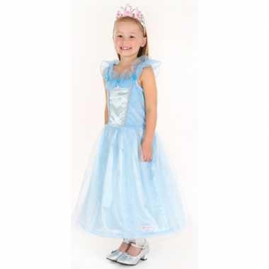 Carnaval carnavalskleding prinses blauw meisjes