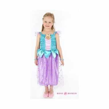 Carnaval carnavalskleding prinses blauw/paars meisjes