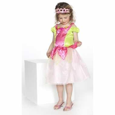 Carnaval carnavalskleding prinses roze/groen meisjes