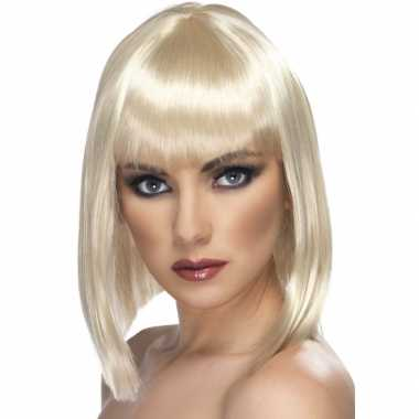 Carnaval damespruik blond