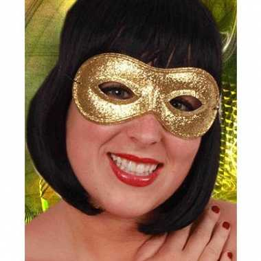 Carnaval oogmasker in de kleur goud