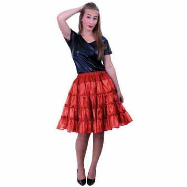 Carnaval petticoat rood met 5 lagen