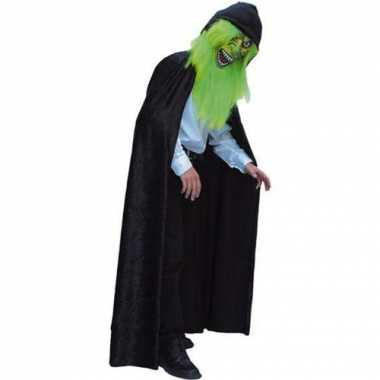 Carnavals verkleed cape zwart