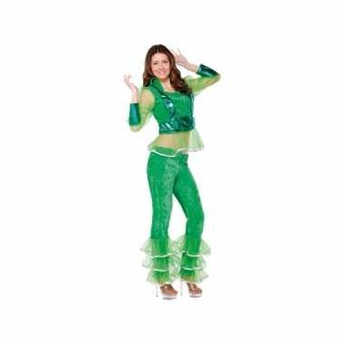 Carnavalscarnavalskleding disco groen voor dames