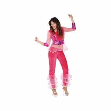 Carnavalscarnavalskleding disco roze voor dames