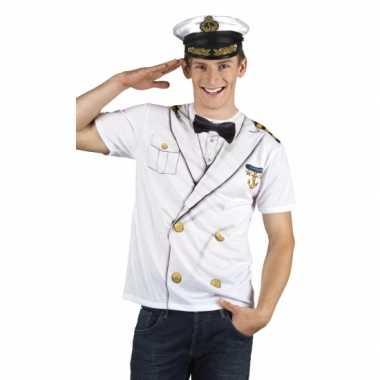 Carnavalscarnavalskleding kapitein heren shirt