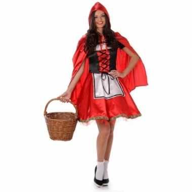 Carnavalscarnavalskleding roodkapje voor dames