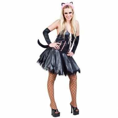 Carnavalscarnavalskleding sexy kat/poes zwart