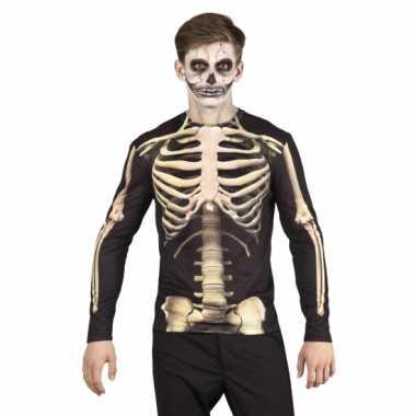 Carnavalscarnavalskleding skelet heren shirt