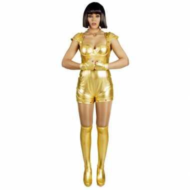 Carnavalscarnavalskleding spacegirl goud voor dames