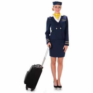 Carnavalscarnavalskleding stewardess blauw