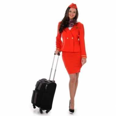 Carnavalscarnavalskleding stewardess rood