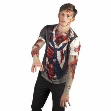 Carnavalscarnavalskleding zombie man shirt