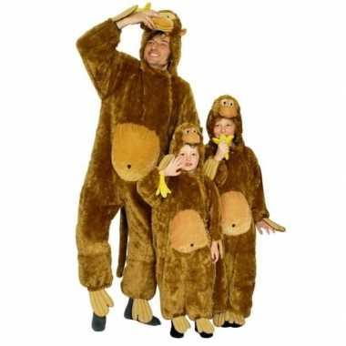 Carnavalskleding aap all in one voor kinderen