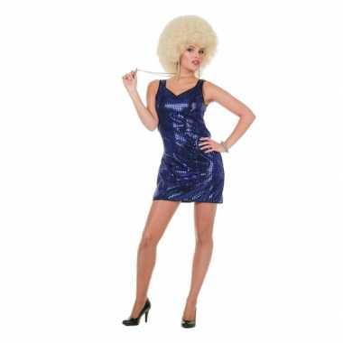 Carnavalskleding glitter jurkjes blauw