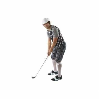 Carnavalskleding golfer zwart voor heren