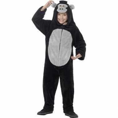 Carnavalskleding gorilla all in one voor kinderen