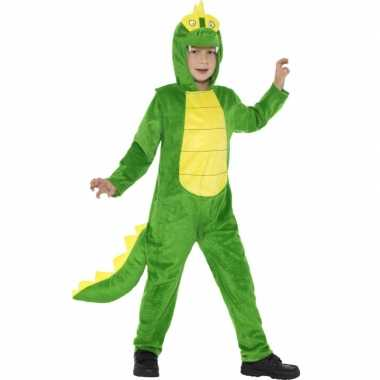Carnavalskleding krokodil all in one voor kinderen